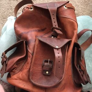 Professional Handmade Leather Backpack